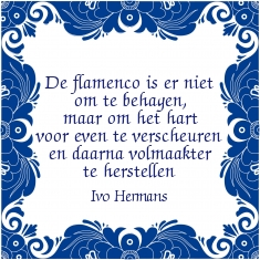 De flamenco is er niet om te behagen, maar om het hart voor even te verscheuren en daarna volmaakter te herstellen